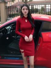 Sexy Cheongsam Style Irregular Dresses For Ladies