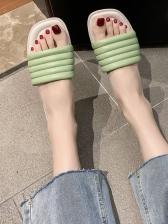 Euro Square Toe Slip On Ladies Slippers