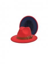 Color Matching Fashion Vintage Fedora Hat