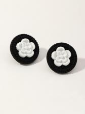 Sweet Cute Flower Design Girl Stud Earrings