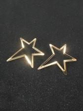 Simple Trendy Pentagram Earrings For Women