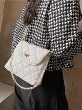 New Solid RhombusPlaid Shoulder Bags