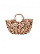 Casual Solid Weaving Handbags For Women