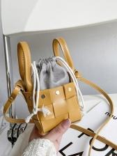 New Solid Weaving Mini Shoulder Bags