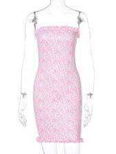 Strapless Solid Print Stringy Selvedge Mini Dress