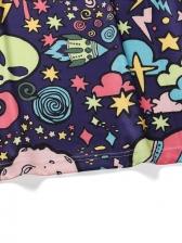Universe Alien Print Short Sleeve Tee