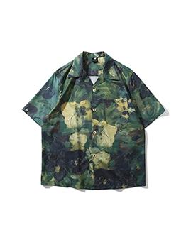 Hawaii Plant Flower Print Mens Shirts