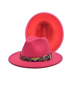Fashion Vintage Jazz Fedora Hats With Belt