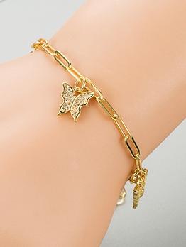 Fashion Zircon Butterfly Pendant Accessories Bracelet