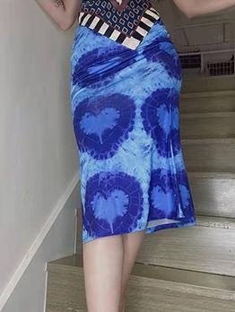New Print Casual Maxi Skirt Ladies