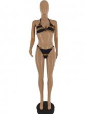 Sexy Animal Printed Three Piece Bikini Set