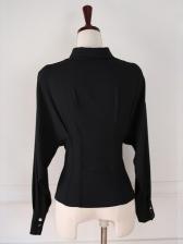 Spring OL Style Bat Sleeve Design Solid Blouse