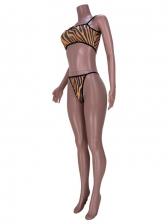 Sexy Striped Three Piece Bikini Sets
