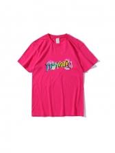 Fashion Printed Crew Neck Loose Shirts For Men