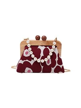 New Contrast Color Faux Pearl Handbags