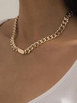 Simple Street Hip Hop Metal Women Necklace