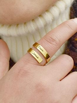 Titanium Steel Geometry Ring For Unisex