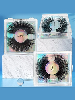 Mink Fur Natural Roll False Eyelashes Women