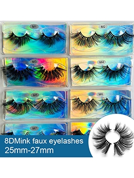 Natural Roll False Eyelashes Stylish Black