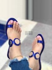 Stylish Round Toe Flat Ladies Slippers
