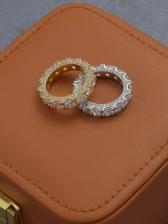 Stylish Hip Hop Zircon Ring For Unisex
