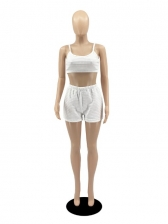 Cropped Solid Camisole With Short Pants