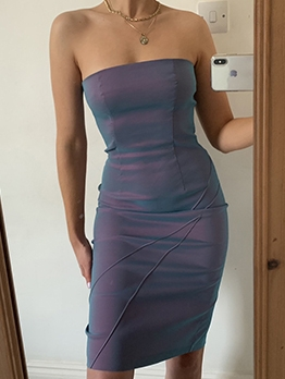 Sexy Off Shoulder Strapless Bodycon Dress