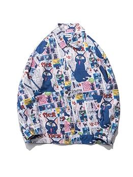 Trendy Comic Style Long Sleeve Baseball Couple Jacket