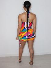 Sexy Club Wear Backless Halter Mini Dress