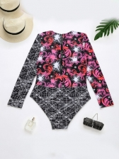 Fashion Summer Surfing Wetsuit Long Sleeve Swimsuits