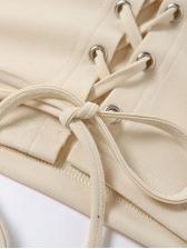 Alluring Low-Cut Tie-Wrap Ladies T Shirts