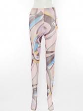 Soft Handfeel Gauze Fitted Printing Pants Set