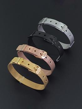 Belt Type Men Solid Fashion Bracelet