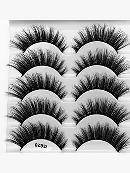 Natural Dense Mink Fur False Eyelashes