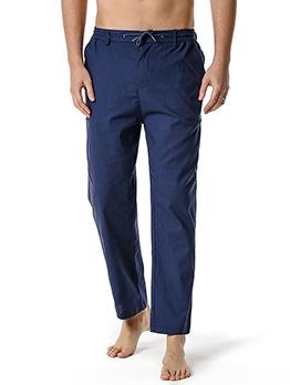 Casual Pure Color Long Cotton Track Pants