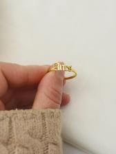 Retro Style Letter Titanium Steel Constellations Ring