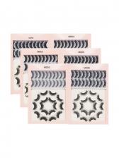 18 Pieces Pack Dense Black False Eyelashes