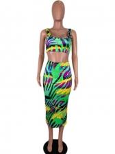 Summer Tie Dye Backless 2 Piece Camisole Dress