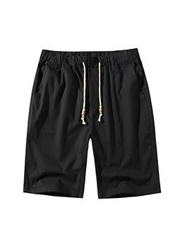 Summer Pure Plus Size Color Drawstring Half Pants