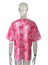 Summer Stylish Tie Dye Print Women Tee Shirt