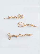 Korean Sweet Honey Girl Geometry Hairpin