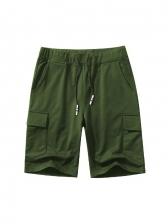 Trendy Drawstring Pocket-Designed Mens Half Pants