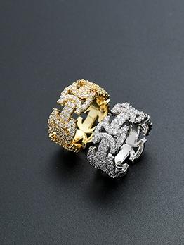 Personality Style Stylish Zircon Ring Unisex