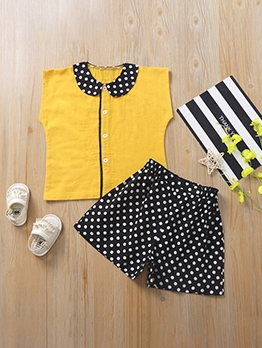 Cute Polka Dots Two Piece Outfits
