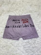Letter Printed Women Shorts Sports Wear