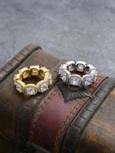 Euramerican Style Hip Hop Copper Ring
