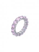 Simple Zircon Copper Ring For Unisex Versatile