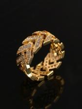 Hip Hop Rap Stylish Zircon Ring For Unisex
