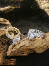 Euramerican Style Trendy Hip Hop Zircon Ring