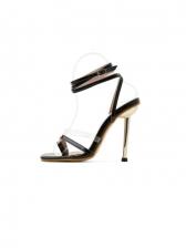 New Contrast Color High Heels Sandals